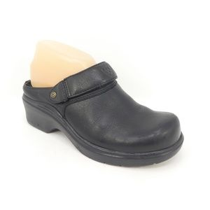 Ariat Black Leather Open Back Mule Clogs (305)